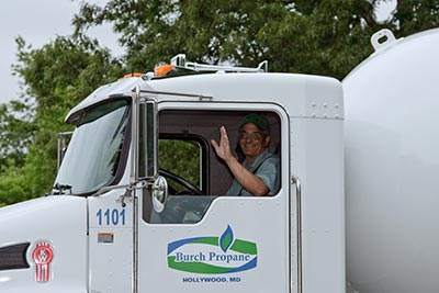Burch propane delivers to Southern Maryland